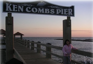 One of many piers within walking distance from our home - Gulfport Vacation Rental Home
